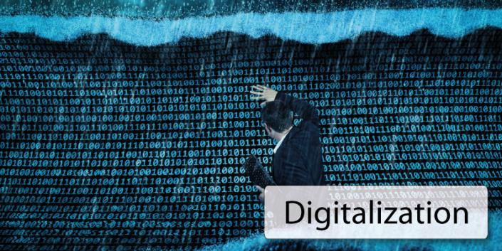 Digitalization Welle der Daten