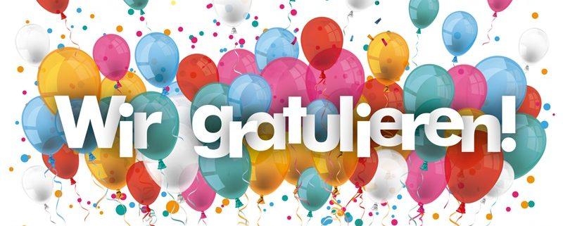 Wir Gratulieren Luftballons