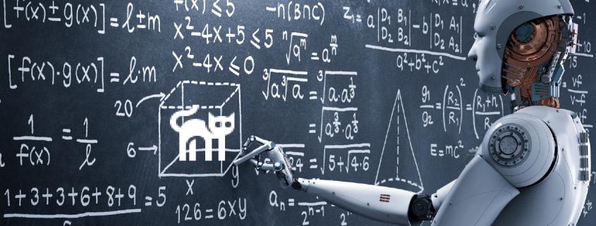 Wie erkennen wir auf einem Foto eine Katze? Dieses scheinbar einfache Problem ist schwierig als Algorithmus zu fassen (© phonlamaiphoto | fotolia.de | icons8.com)